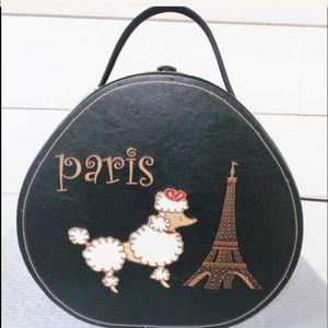 Vintage PARIS Eiffel Tower POODLE Hatbox